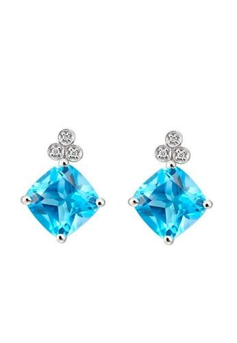 HABIB JEWELS HABIB Shaylee Blue Topaz Diamond Earring 6EEF1ACC7972F6GS_1