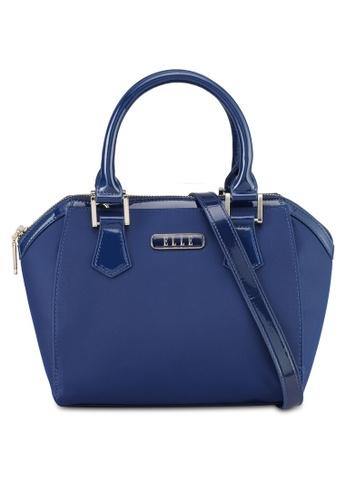 ELLE navy Felisa Top-Handle Bag D4B4FAC25B07F7GS_1