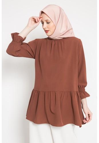 LISH brown Mona Blouse - Mahogany 44C27AA5A861F7GS_1