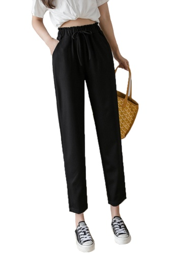 Halo black Simple Cropped Casual Pants 9AF54AA302B790GS_1