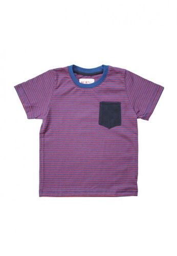 Marcus red and multi and navy Justine Striped Tee 2E12EKA07918F9GS_1