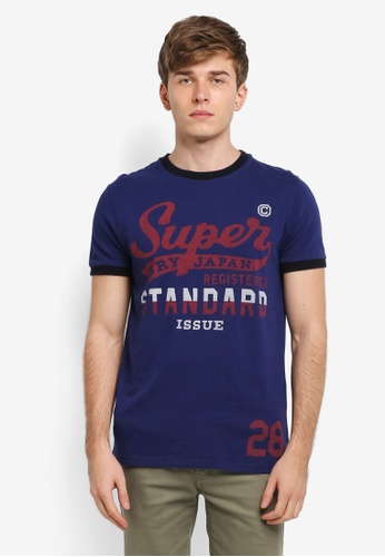 Superdry navy Standard Issue Ringer Tee SU137AA0SI1SMY_1
