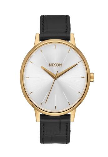 Nixon black KENSINGTON LEATHER GOLD/BLACK 00AE4ACEF35C12GS_1