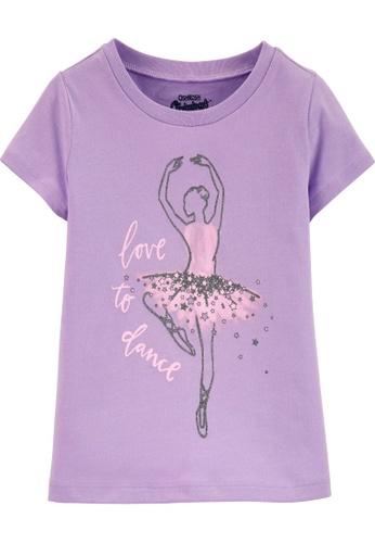 Oshkosh B'gosh purple OSH KOSH Girl Lilac Ballet Graphic Tee 77A97KACA2965DGS_1