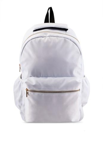 JAXON white Nylon Backpack A6675AC81575AFGS_1