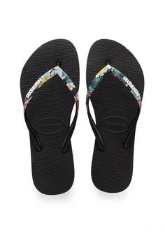 d974da2f0e7a79 Havaianas Havaianas Slim Strapped Black Mistic S  55.00. Sizes 35 36 37 38  39 40 41 42