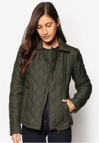 Cary 菱格紋軟襯騎士外套, 服esprit outlet尖沙咀飾, 服飾