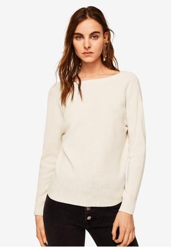 Mango beige Knot Detail Sweater C23A8AAFCB50C0GS_1
