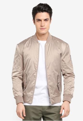 Calvin Klein silver Ondo 6 Bomber Jacket - Calvin Klein Jeans DA4F7AA4D758BEGS_1