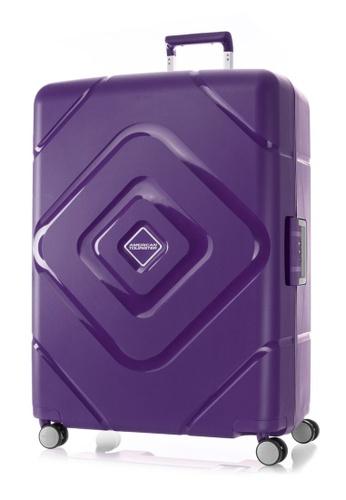 American Tourister purple American Tourister Trigard Spinner 79/29 TSA Luggage B64BFACE40C8FCGS_1