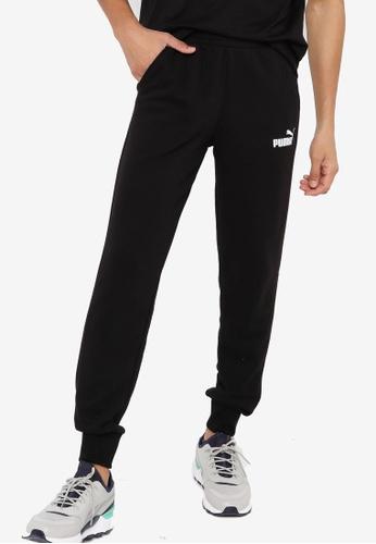 Puma black Essentials Logo Men's Sweatpants 87B8DAA80B0B41GS_1
