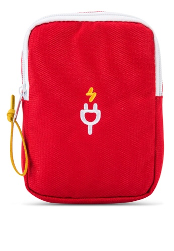 Bagstationz red Travel Gadget/Power Bank Pouch BA607AC79LQYMY_1