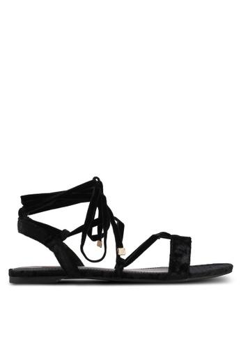 Velvet black Velvet Sandals 0A095SHFA531D9GS_1