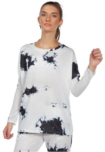 London Rag white White Tie Dye Full Sleeve Top 179D2AA329D53FGS_1