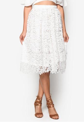 蕾esprit 中文絲鉤花及膝短裙, 服飾, 裙子