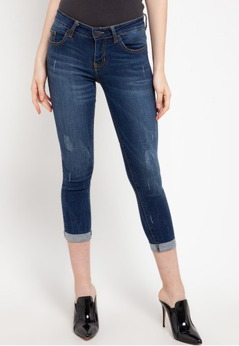 Dust Jeans navy 3346 Cropped Skinny Jeans A84E3AA058A6DBGS_1