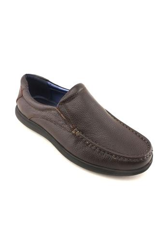 Hanson Bootmaker brown Hanson Bootmaker Slip On Casual HA656SH00RXFSG_1