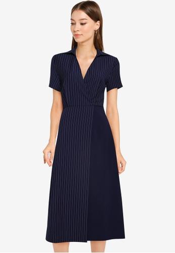 ZALORA WORK multi Contrast Fabric Dress 58A1AAA64C0AC2GS_1