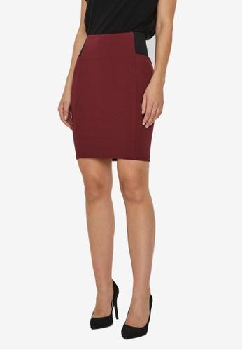 Vero Moda red Tava High Waist Skirt 9063EAA290DE88GS_1