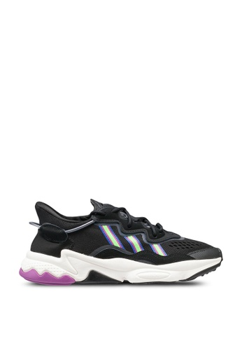 ADIDAS black and pink and green ozweego shoes 05077SHD7137E1GS_1