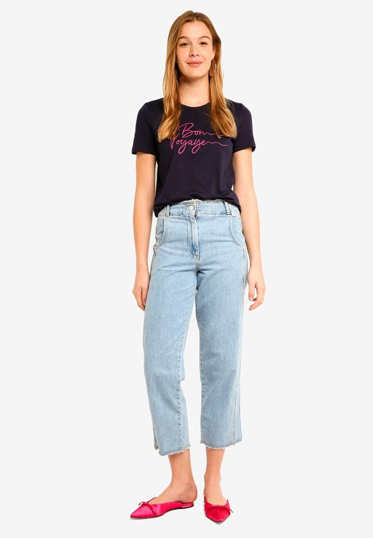 Midi Sky Sleeve Violet Emb Shirt Valentina T Short Night Rose Vero Moda wTA8vI
