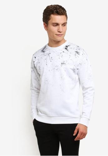 Boss Green white Swelock Sweatshirt BO516AA0RPOSMY_1