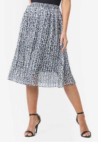 NA-KD 多色 Midi 褶飾裙 69682AAEE0DEE8GS_1