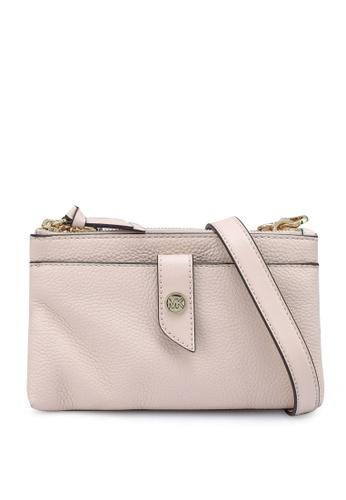 Michael Kors pink Medium Pebbled Leather Crossbody Bag (zt) E639DACD7D2BEEGS_1