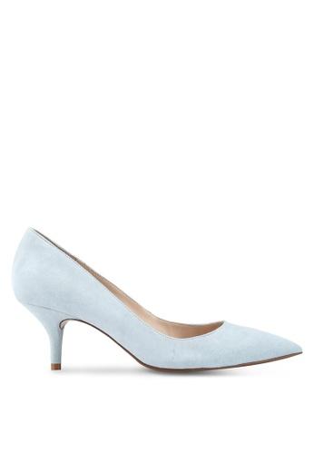 Mango blue Blue Leather Heels 350CBSH097029CGS_1