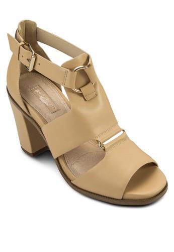 RUMBA 方頭露趾粗跟涼鞋, 女鞋,zalora 男鞋 評價 細帶高跟鞋