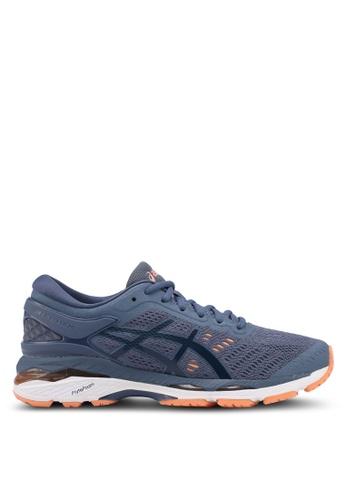 Asics blue Gel-Kayano 24 Shoes AS989SH0SVRNMY_1