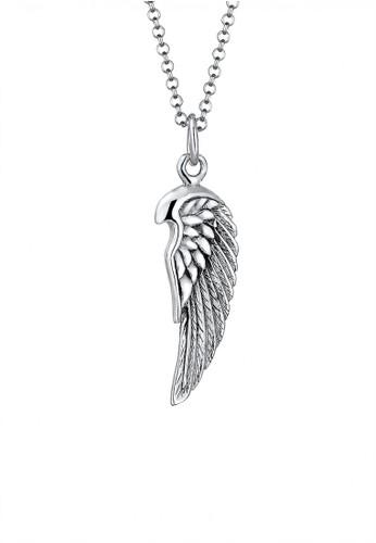 KUZZOI silver Perhiasan Pria Perak Asli - Silver Kalung Man Wings Silver PA085AC0UIPLID_1