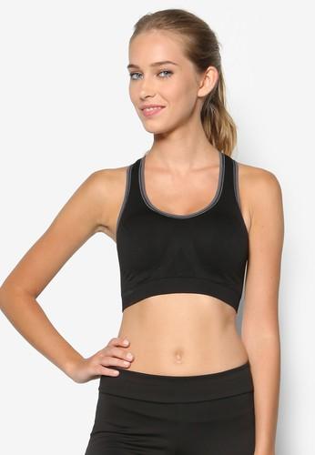 撞色滾邊運動胸罩, 服esprit品牌介绍飾, 運動內衣