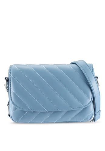 Pieces blue Pcmalou Crossbody Quilt Bag 288BFACAC122EBGS_1