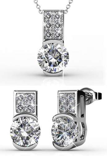 Her Jewellery silver Simply Set with Premium Grade Crystals from Austria 8F40BACB5FBEF7GS_1