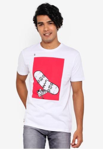 OVS 白色 印花T恤 3851DAAF10803CGS_1