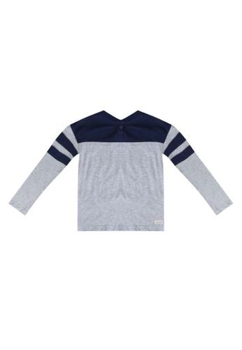 GAP grey Colorblock Henley Tee D6403KA158402AGS_1
