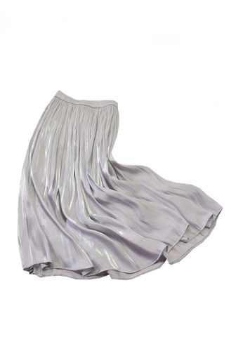 Twenty Eight Shoes grey VANSA Pearly Yarn Pleated Skirt VCW-Sk18588 3D1D8AA10D3F1EGS_1
