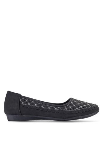 Louis Cuppers black Perforated Flats LO977SH96RELMY_1