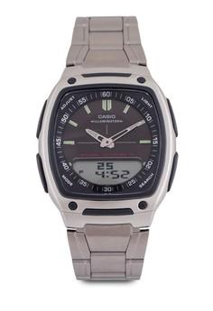 Casio AW-81D-1AVDF 雙顯不銹鋼錶