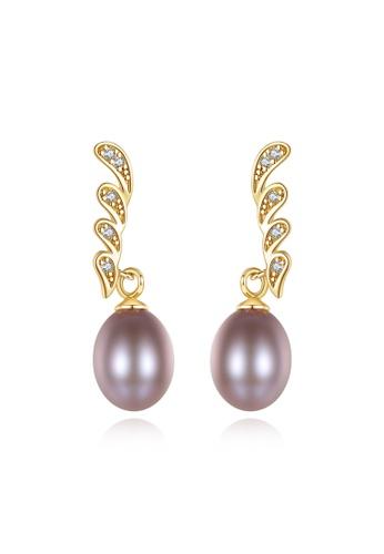 A.Excellence purple Premium Purple Pearl Elegant Earring E7604ACB6DFD2AGS_1