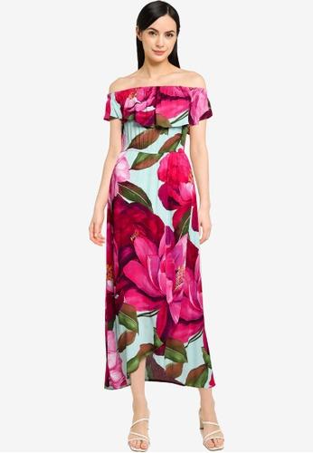 Desigual pink Maxi Off Shoulder Dress 772BEAA7D149EBGS_1