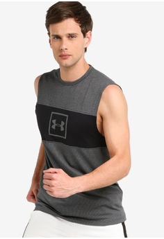 992c006c79 Under Armour black Sportstyle Cotton Mesh Tank Top BEE6EAA28A3C42GS_1