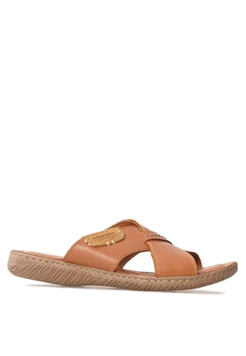 Tony Perotti multi and brown Tony Perotti Sandal Aswin - Brown TO890SH0VNCWID_1