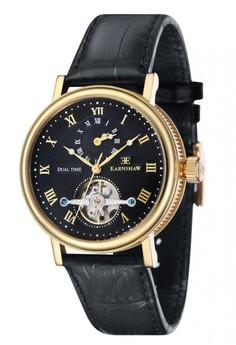 Thomas Earnshaw BEAUFORT ES-8047-08 Men's Black Genuine Leather Strap Watch
