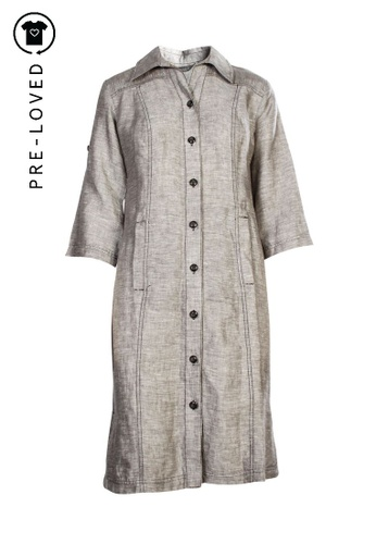 Marina Rinaldi grey Pre-Loved marina rinaldi Grey Linen Dress 4D3AEAAD4A90D7GS_1