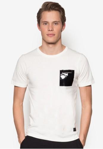 PU zalora 台灣門市口袋短袖TEE, 服飾, 服飾
