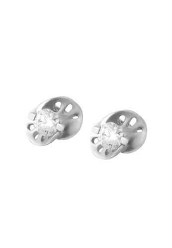 TOMEI white TOMEI  Vignette of Glitz and Pizzazz Earrings, Diamond White Gold 375 (E1276 ) 157A3AC8B52A13GS_1