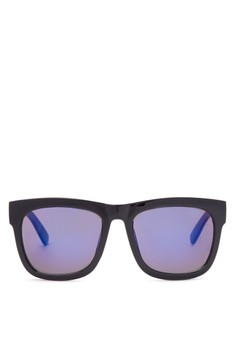 Shades with Blue Lens and Gold Frame