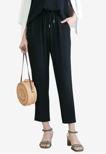 Tokichoi black Textured Drawstring Pants E32F5AAD12A3ECGS_1